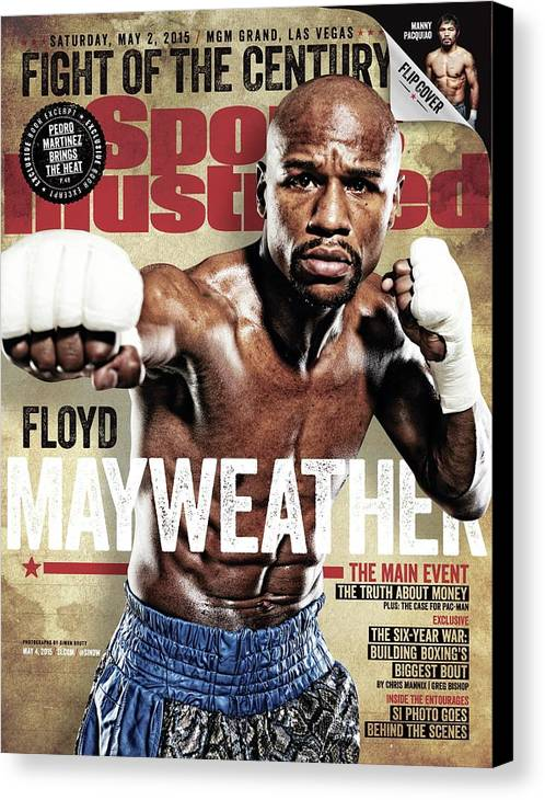 Event Canvas Print featuring the photograph Floyd Mayweather Jr., 2015 Wbawbcwbo Welterweight Title Sports Illustrated Cover by Sports Illustrated