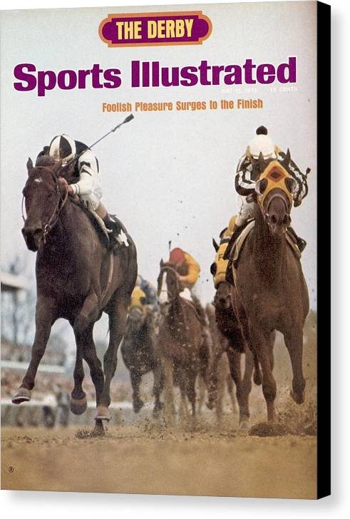 Horse Canvas Print featuring the photograph Foolish Pleasure, 1975 Kentucky Derby Sports Illustrated Cover by Sports Illustrated