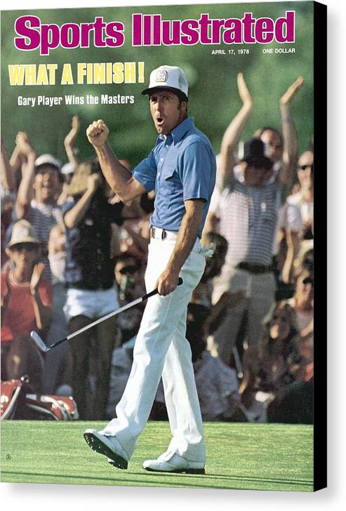 Magazine Cover Canvas Print featuring the photograph Gary Player, 1978 Masters Sports Illustrated Cover by Sports Illustrated