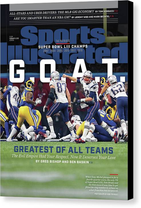 Atlanta Canvas Print featuring the photograph G.o.a.t Greatest Of All Teams Sports Illustrated Cover by Sports Illustrated