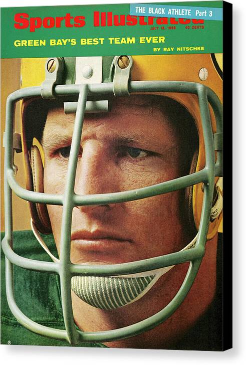 Magazine Cover Canvas Print featuring the photograph Green Bay Packers Ray Nitschke Sports Illustrated Cover by Sports Illustrated