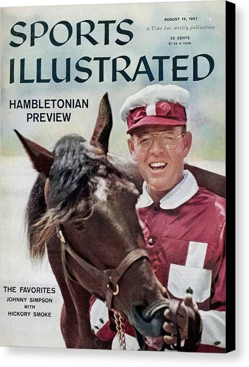 Horse Canvas Print featuring the photograph Hambletonian Harness Preview Sports Illustrated Cover by Sports Illustrated