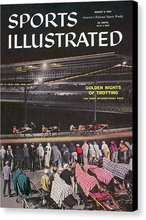 Westbury Canvas Print featuring the photograph Harness Racing Sports Illustrated Cover by Sports Illustrated