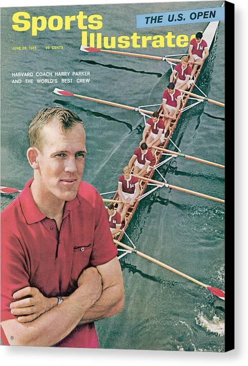 Magazine Cover Canvas Print featuring the photograph Harvard University Crew Coach Harry Parker Sports Illustrated Cover by Sports Illustrated