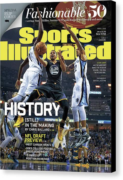 Federal Express Canvas Print featuring the photograph History still In The Making Sports Illustrated Cover by Sports Illustrated