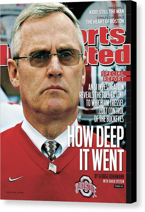 Magazine Cover Canvas Print featuring the photograph How Deep It Went An Si Investigation Reveals The Full Sports Illustrated Cover by Sports Illustrated
