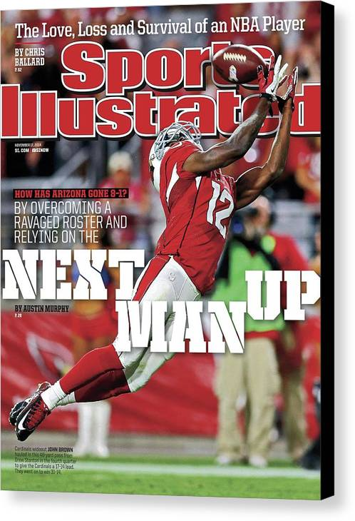 Magazine Cover Canvas Print featuring the photograph How Has Arizona Gone 8-1 By Overcoming A Ravaged Roster And Sports Illustrated Cover by Sports Illustrated