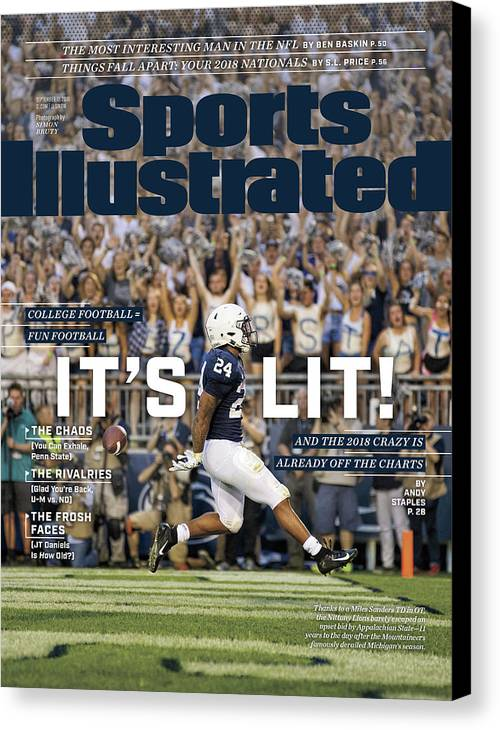 Magazine Cover Canvas Print featuring the photograph Its Lit And The 2018 Crazy Is Already Off The Charts Sports Illustrated Cover by Sports Illustrated