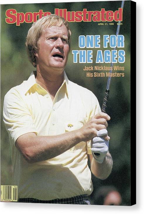 1980-1989 Canvas Print featuring the photograph Jack Nicklaus, 1986 Masters Sports Illustrated Cover by Sports Illustrated