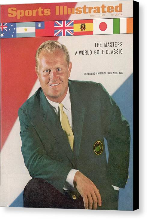 Magazine Cover Canvas Print featuring the photograph Jack Nicklaus, Golf Sports Illustrated Cover by Sports Illustrated