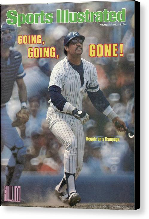 Magazine Cover Canvas Print featuring the photograph Kansas City Royals V New York Yankees Sports Illustrated Cover by Sports Illustrated