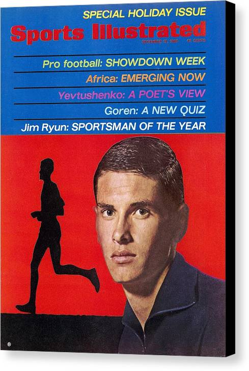 Magazine Cover Canvas Print featuring the photograph Kansas Jim Ryun, 1966 Sportsman Of The Year Sports Illustrated Cover by Sports Illustrated