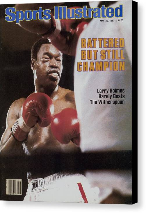 Larry Holmes Canvas Print featuring the photograph Larry Holmes, 1983 Wbc Heavyweight Title Sports Illustrated Cover by Sports Illustrated
