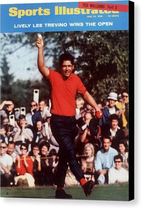 Magazine Cover Canvas Print featuring the photograph Lee Trevino, 1968 Us Open Sports Illustrated Cover by Sports Illustrated
