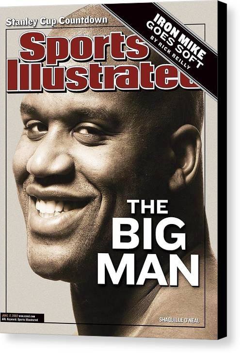 Magazine Cover Canvas Print featuring the photograph Los Angeles Lakers Shaquille Oneal Sports Illustrated Cover by Sports Illustrated