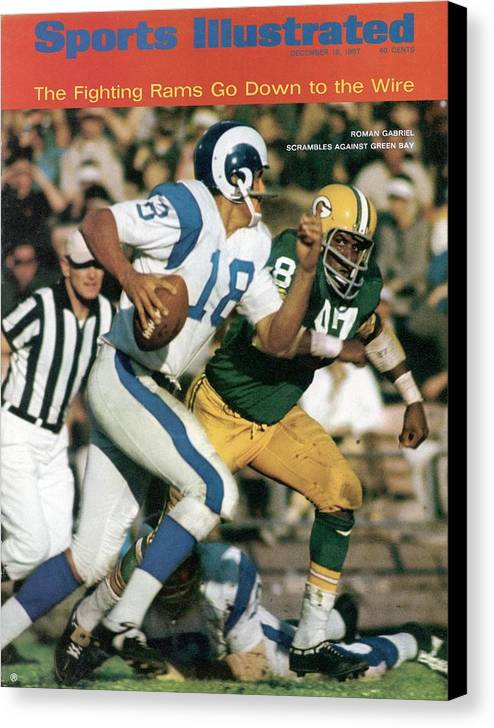 Sports Illustrated Canvas Print featuring the photograph Los Angeles Rams Roman Gabriel Sports Illustrated Cover by Sports Illustrated