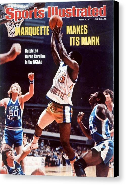 Atlanta Canvas Print featuring the photograph Marquette Butch Lee, 1977 Ncaa National Championship Sports Illustrated Cover by Sports Illustrated