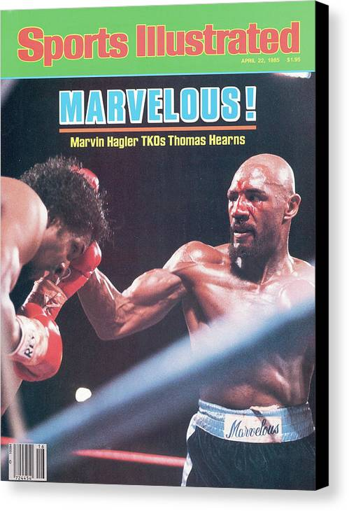 1980-1989 Canvas Print featuring the photograph Marvelous Marvin Hagler, 1985 Wbc Wba Ibf Middleweight Title Sports Illustrated Cover by Sports Illustrated