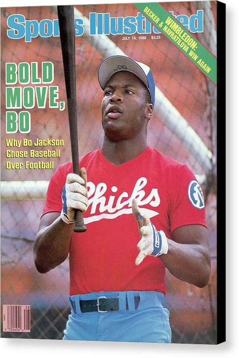 1980-1989 Canvas Print featuring the photograph Memphis Chicks Bo Jackson, Class Aa Southern League Sports Illustrated Cover by Sports Illustrated