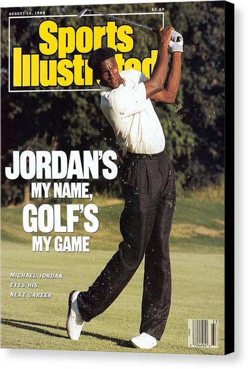 1980-1989 Canvas Print featuring the photograph Michael Jordan, 1989 St. Jude Classic Sports Illustrated Cover by Sports Illustrated
