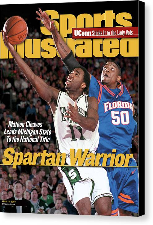 Michigan State University Canvas Print featuring the photograph Michigan State University Mateen Cleaves, 2000 Ncaa Sports Illustrated Cover by Sports Illustrated
