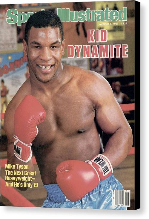 1980-1989 Canvas Print featuring the photograph Mike Tyson, Heavyweight Boxing Sports Illustrated Cover by Sports Illustrated