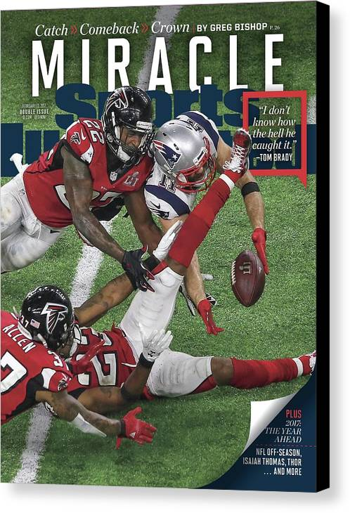 Magazine Cover Canvas Print featuring the photograph Miracle Catch, Comeback, Crown Sports Illustrated Cover by Sports Illustrated