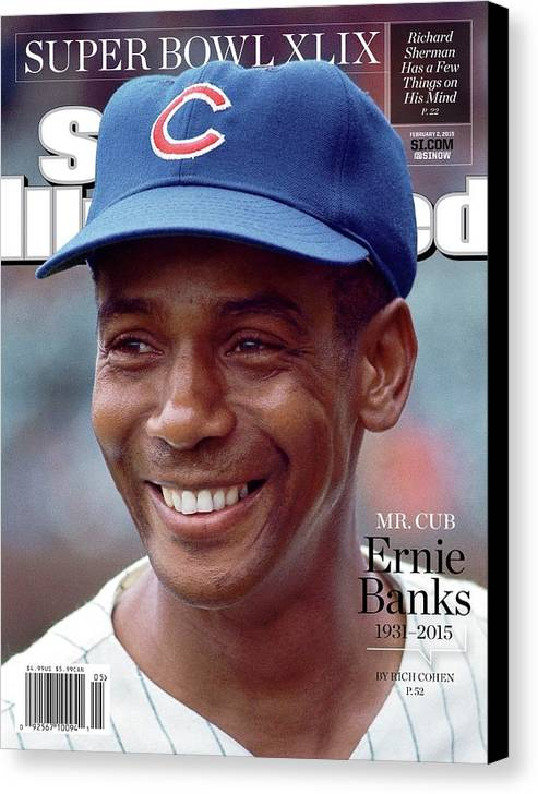 St. Louis Cardinals Canvas Print featuring the photograph Mr. Cub Ernie Banks 1931 - 2015 Sports Illustrated Cover by Sports Illustrated