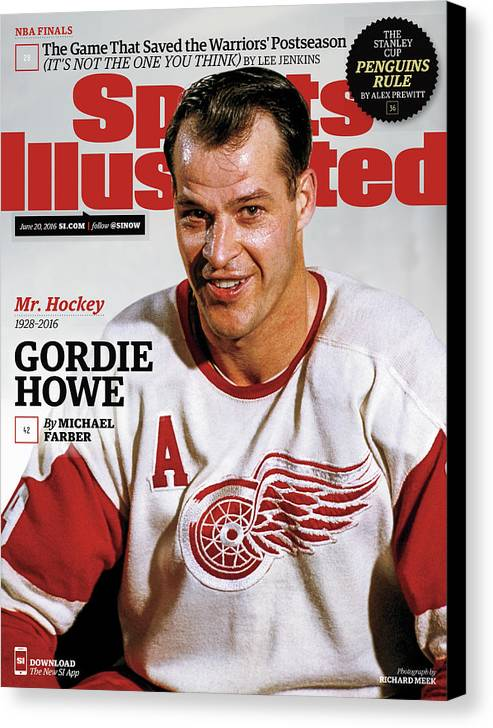 Magazine Cover Canvas Print featuring the photograph Mr. Hockey Gordie Howe, 1928 - 2016 Sports Illustrated Cover by Sports Illustrated
