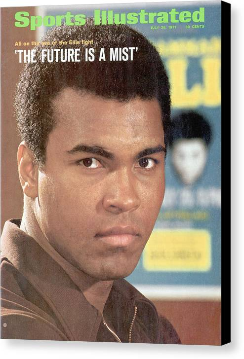 Magazine Cover Canvas Print featuring the photograph Muhammad Ali, Heavyweight Boxing Sports Illustrated Cover by Sports Illustrated