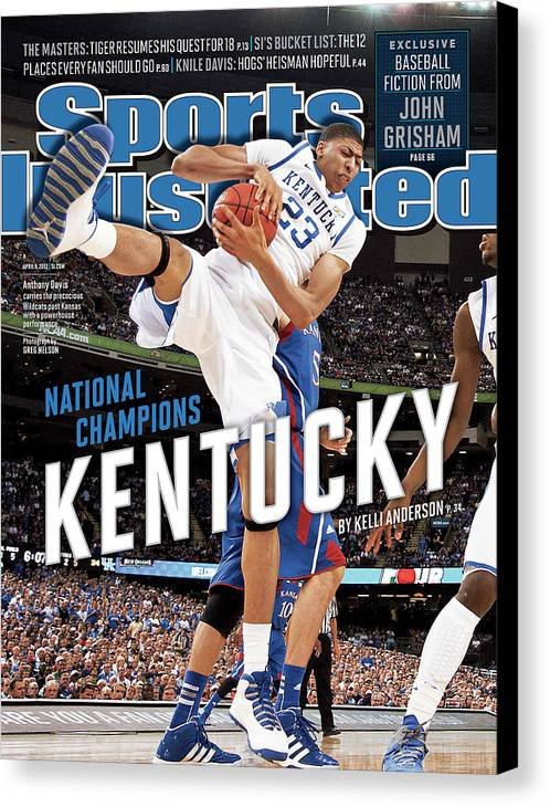 Magazine Cover Canvas Print featuring the photograph Ncaa Basketball Tournament - Final Four - Championship Sports Illustrated Cover by Sports Illustrated