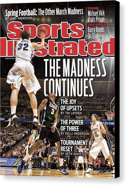 Playoffs Canvas Print featuring the photograph Ncaa Basketball Tournament - Third Round - Denver Sports Illustrated Cover by Sports Illustrated