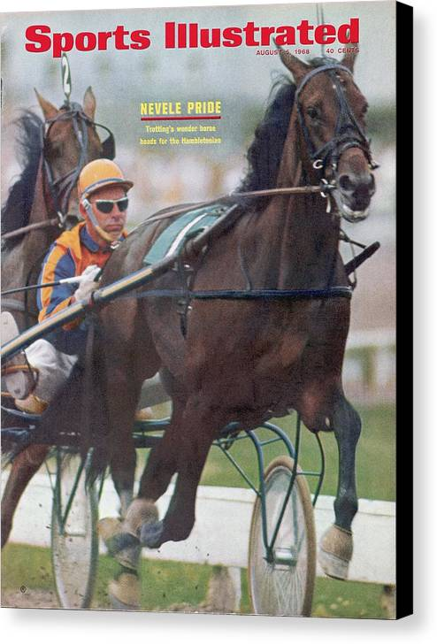 Horse Canvas Print featuring the photograph Nevel Pride, Harness Racing Sports Illustrated Cover by Sports Illustrated