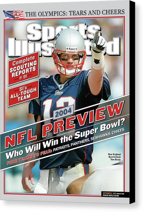 Miami Gardens Canvas Print featuring the photograph New England Patriots Quarterback Tom Brady, 2013 Nfl Sports Illustrated Cover by Sports Illustrated