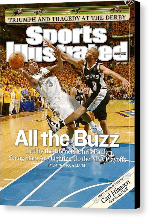 Magazine Cover Canvas Print featuring the photograph New Orleans Hornets Chris Paul, 2008 Nba Western Conference Sports Illustrated Cover by Sports Illustrated