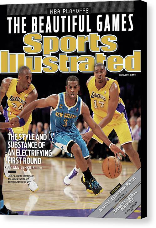 Playoffs Canvas Print featuring the photograph New Orleans Hornets Chris Paul, 2011 Nba Western Conference Sports Illustrated Cover by Sports Illustrated