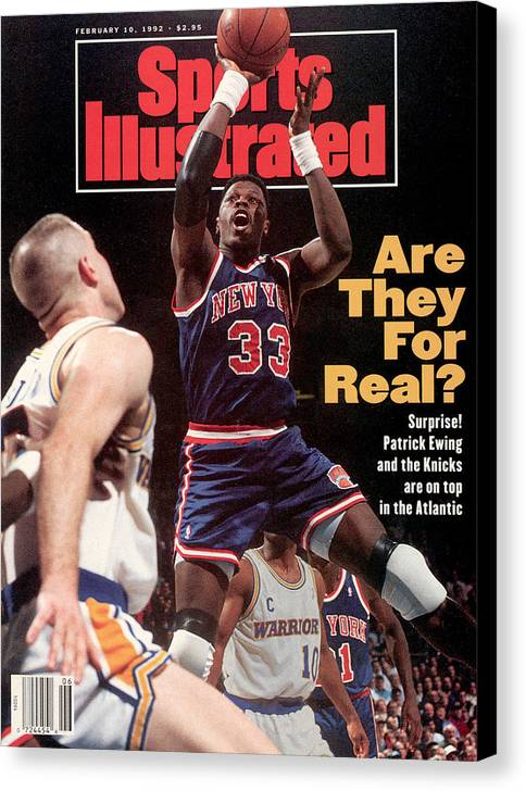 Magazine Cover Canvas Print featuring the photograph New York Knicks Patrick Ewing... Sports Illustrated Cover by Sports Illustrated