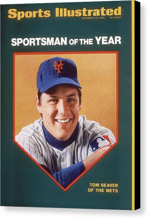 Tom Seaver Canvas Print featuring the photograph New York Mets Tom Seaver Sports Illustrated Cover by Sports Illustrated