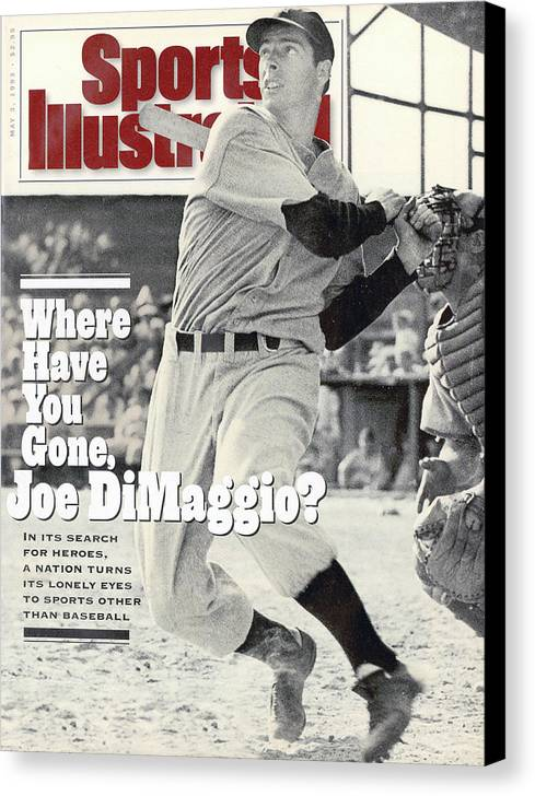 St. Louis Cardinals Canvas Print featuring the photograph New York Yankees Joe Dimaggio... Sports Illustrated Cover by Sports Illustrated