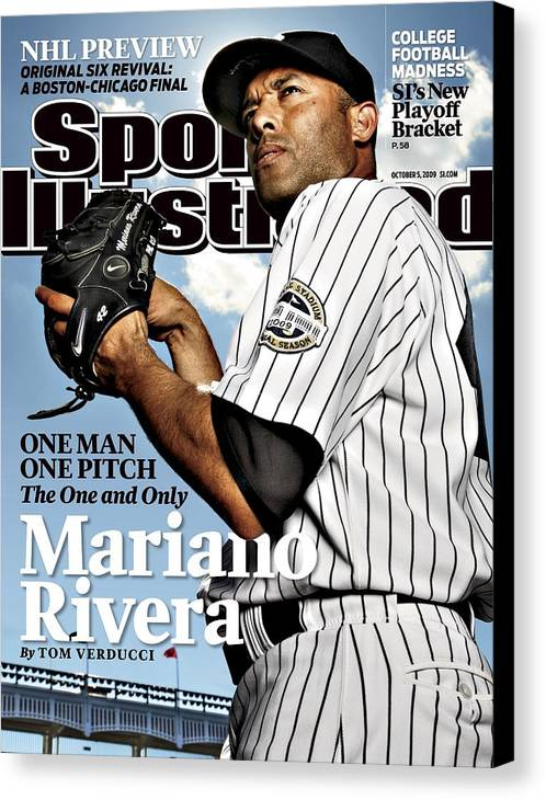Magazine Cover Canvas Print featuring the photograph New York Yankees Mariano Rivera Sports Illustrated Cover by Sports Illustrated