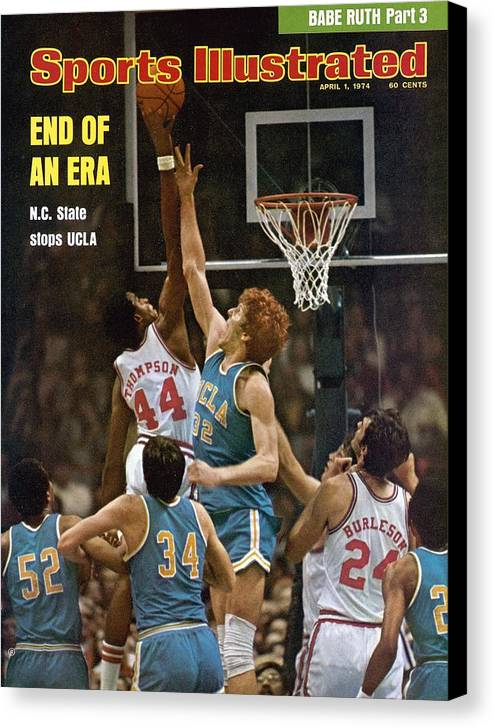 David Thompson Canvas Print featuring the photograph North Carolina State David Thompson, 1974 Ncaa Semifinals Sports Illustrated Cover by Sports Illustrated