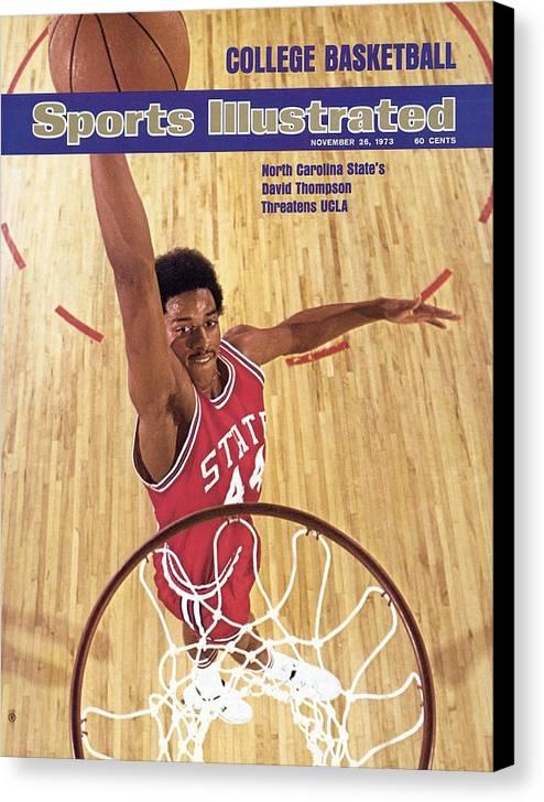Magazine Cover Canvas Print featuring the photograph North Carolina State David Thompson Sports Illustrated Cover by Sports Illustrated