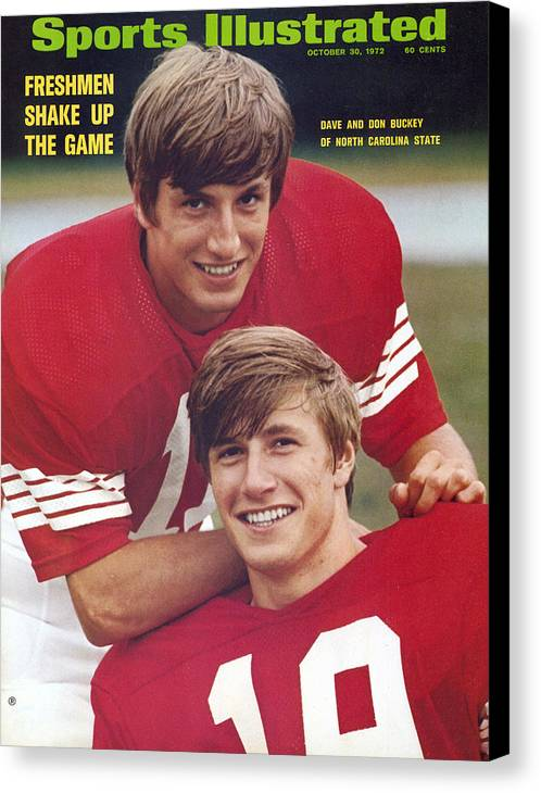 Magazine Cover Canvas Print featuring the photograph North Carolina State University Don And Dave Buckey Sports Illustrated Cover by Sports Illustrated