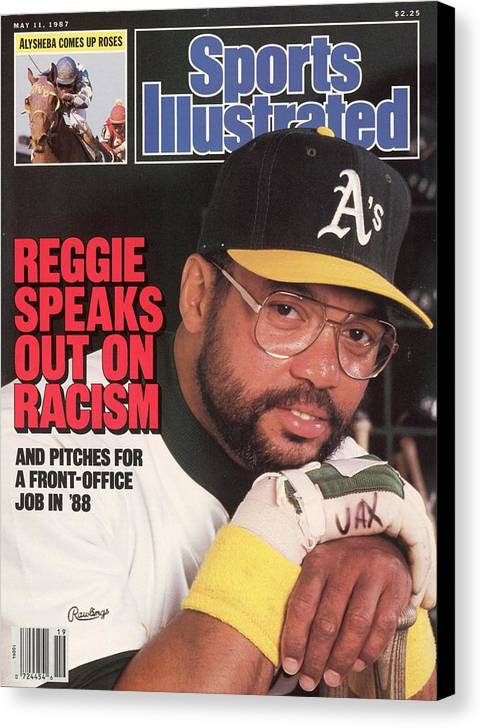 Magazine Cover Canvas Print featuring the photograph Oakland Athletics Reggie Jackson Sports Illustrated Cover by Sports Illustrated