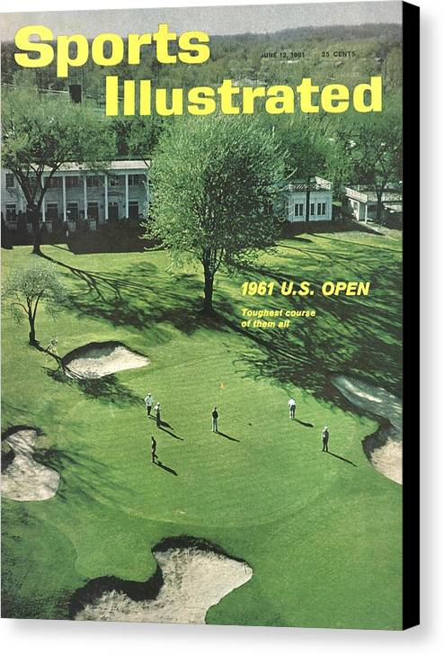 Magazine Cover Canvas Print featuring the photograph Oakland Hills Country Club Sports Illustrated Cover by Sports Illustrated