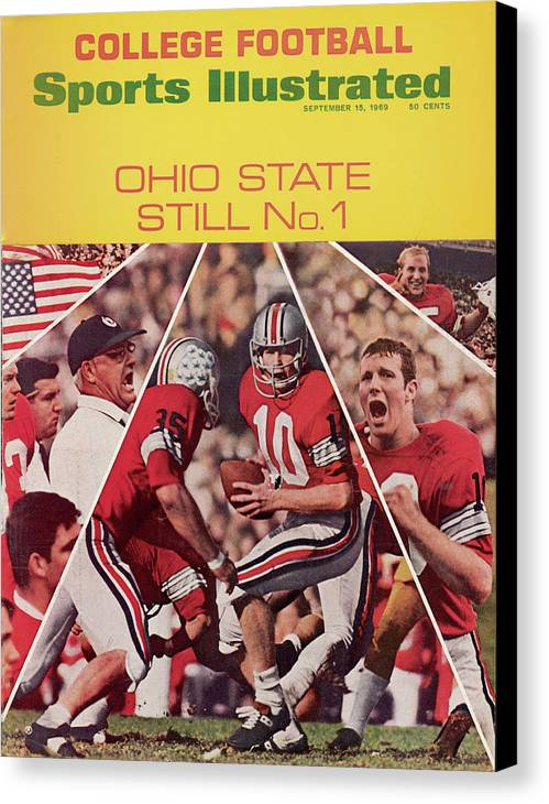 Michigan State University Canvas Print featuring the photograph Ohio State Still No. 1 Sports Illustrated Cover by Sports Illustrated