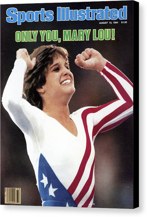 Magazine Cover Canvas Print featuring the photograph Only You, Mary Lou Sports Illustrated Cover by Sports Illustrated