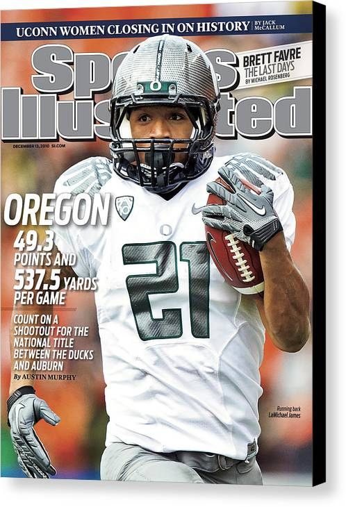 Magazine Cover Canvas Print featuring the photograph Oregon State University Vs University Of Oregon Sports Illustrated Cover by Sports Illustrated