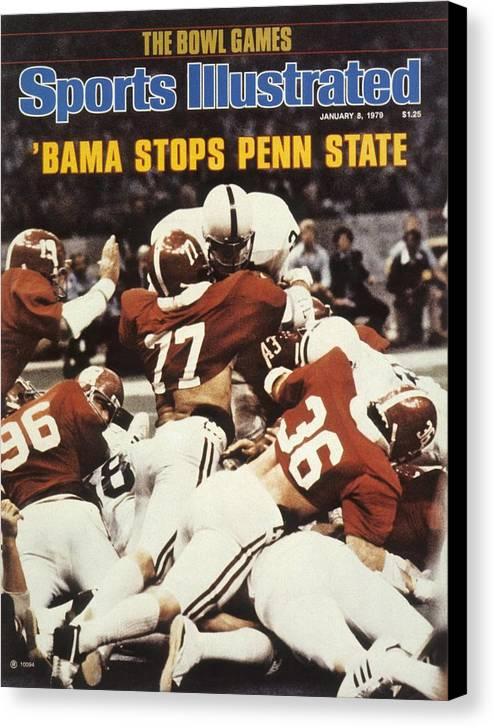 Magazine Cover Canvas Print featuring the photograph Penn State Mike Guman, 1979 Sugar Bowl Sports Illustrated Cover by Sports Illustrated