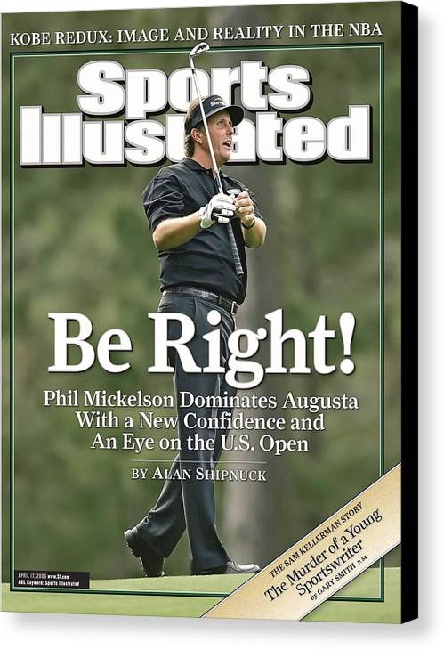 Magazine Cover Canvas Print featuring the Phil Mickelson, 2006 Masters Sports Illustrated Cover by Sports Illustrated